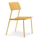 Chaise de réunion ou cafétéria design jaune