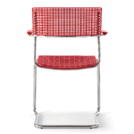 Chaise polyvalente rouge piétement luge