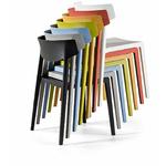 chaise polyvalente empilable coloré