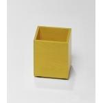 Pot à crayon jaune