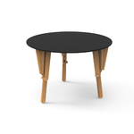 4. TABLE MODULABLE RONDE BUREAU NOIR