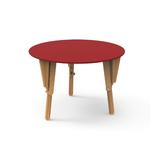 4. TABLE MODULABLE RONDE BUREAU ROUGE