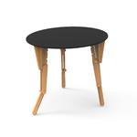 4. TABLE MODULABLE RONDE DEBOUT INCLINE NOIR