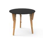 4. TABLE MODULABLE RONDE DEBOUT NOIR