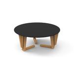 4. TABLE MODULABLE RONDE TABLE BASSE NOIR