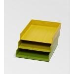 Bannettes de bureau jaune vert