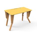 1. TABLE MODULABLE BUREAU INCLINE JAUNE