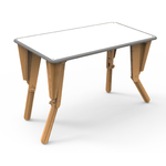 2. TABLE MODULABLE OPTION VELLEDA BUREAU INCLINE GRIS