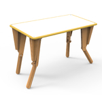 2. TABLE MODULABLE OPTION VELLEDA BUREAU INCLINE JAUNE