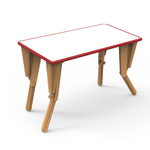 2. TABLE MODULABLE OPTION VELLEDA BUREAU INCLINE ROUGE