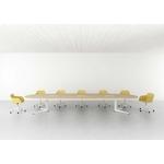 grande table de réunion ovale USOA avec top access et pieds sol