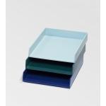 Bannettes de bureau bleues