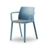 chaise de cafétéria curacao avec accoudoirs