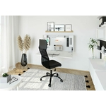 Bureau mural rabattable mini office blanc