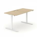 bureau assis debout réglable en hauteur avec top access