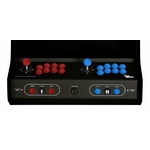 Bouton borne arcade bleu et rouge