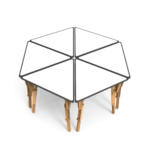 3. TABLE MODULABLE TRIANGLE OPTION VELLEDA GROUPE