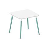 table de réunion brainstorming modulable 80x80 cm blanc et menthe