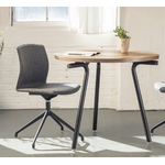 chaise de réunion design pivotrante et tapissée kabi swivel