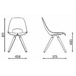 dimensions chaise de réunion tauko en bois