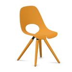 chaise design orange réunion ou cafétéria