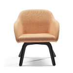fauteuil lounge dossier bas pied noir hanna