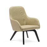 fauteuil chauffeuse lounge pied noir hanna