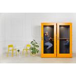 cabine acoustique bureau design économique soho coloré  jaune
