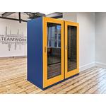 cabine acoustique bureau design économique soho coloré bleu et jaune