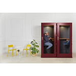 phonebox design acoustique soho coloré bordeaux