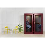 cabine acoustique bureau design économique soho coloré bordeaux