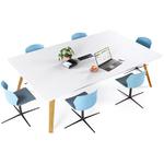 Table de réunion grande et design pieds bois altitude