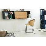 chaise design not wood piétement luge assise et dossier en bois