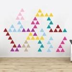 Autocollant géant triangles
