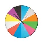 Horloge ultrafine multicolore