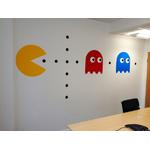 Autocollant mural rétro Pac Man