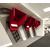 cabine téléphonique acoustique rouge avec tablette blanche