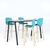 table haute rectangulaire pieds noir