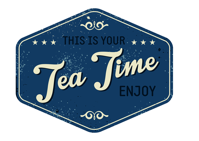 Stickers salle de pause tea time for Salle de pause en entreprise