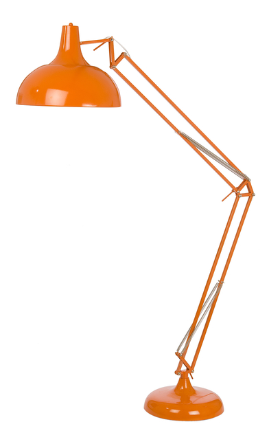 lampadaire de bureau orange grande lampe orange. Black Bedroom Furniture Sets. Home Design Ideas