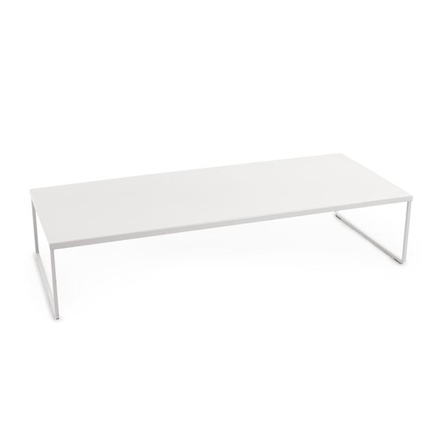 elevateur pour cran support pour ordinateur en m tal blanc. Black Bedroom Furniture Sets. Home Design Ideas
