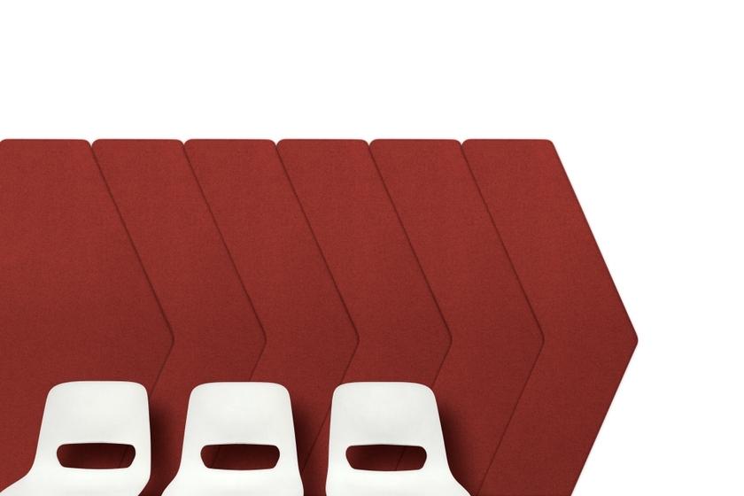 panneau acoustique mural en forme de signal tique. Black Bedroom Furniture Sets. Home Design Ideas