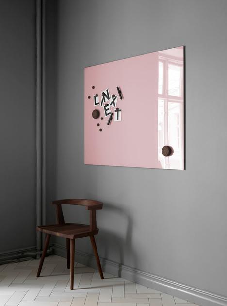 Tableau Magnétique Rose Fushia En Verre Effaçable Kolloricom