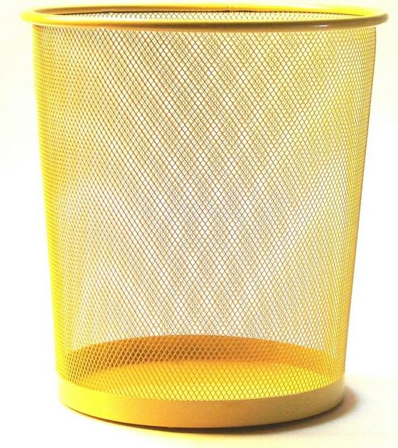 Corbeille papier jaune pour le bureau for Bureau jaune