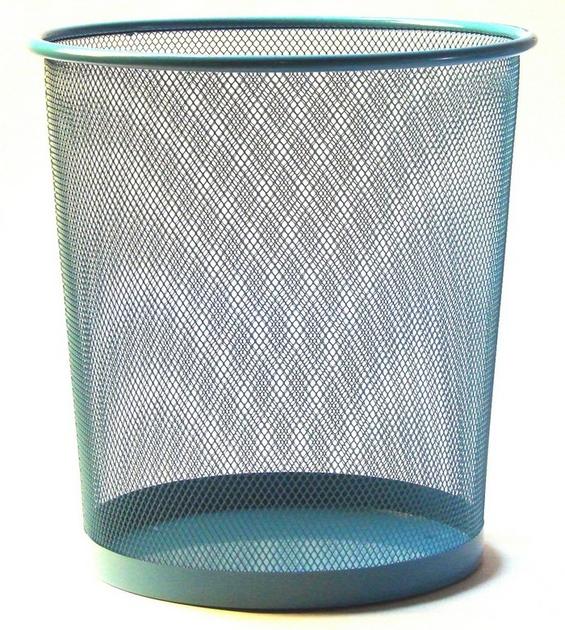 corbeille papier turquoise pour le bureau. Black Bedroom Furniture Sets. Home Design Ideas