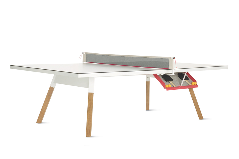 Table de r union transformable en table de ping pong for Table de bureau blanche