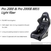 008081FNR SIEGE SPARCO PRO 2000  Light Fiber NOIR