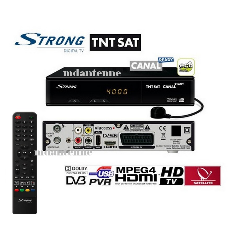 R cepteur satellite srt 7104 strong recepteurs - Tnt par satellite sans decodeur ...