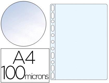 POCHETTES A4 100 MICRONS LISSE CRISTAL PACK DE 100
