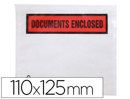 POCHETTES DOCUMENTS ENCLOSED 113X100MM